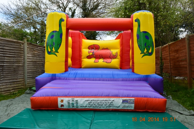 Dinosaurs Bouncy Castle (8ft Low Height)