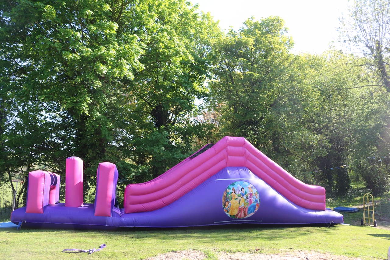 27x13 Princess Obstacle course with Slide Suitable all Ages