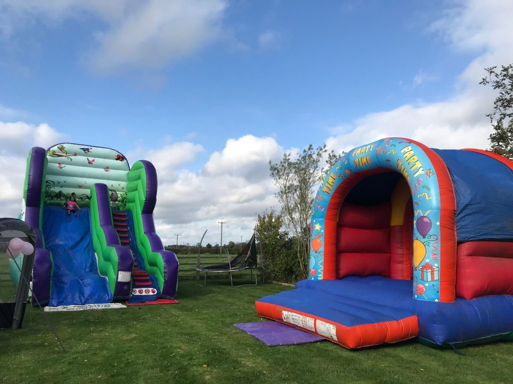 Giant Jungle Slide with Party Time Bouncy Castle