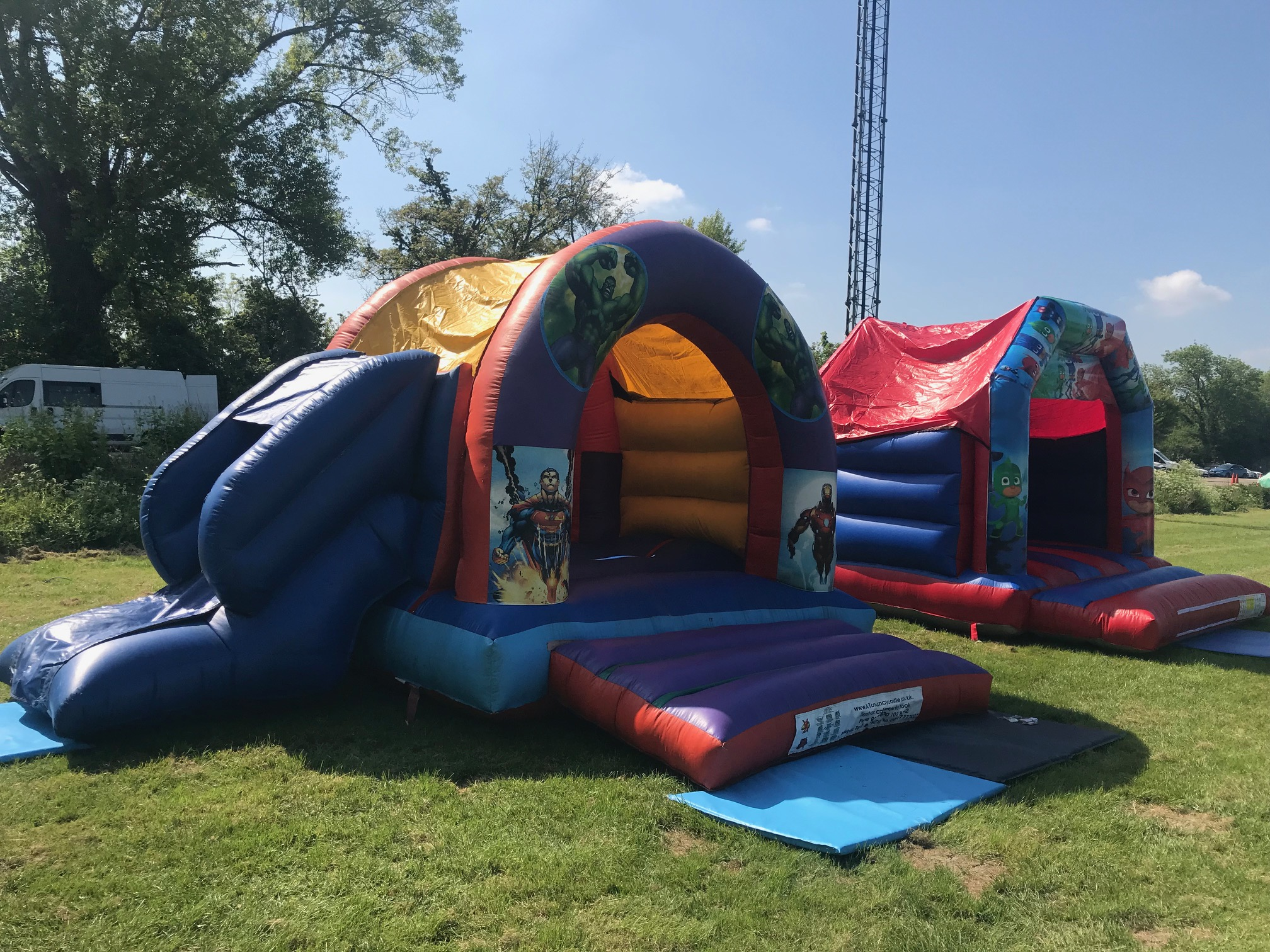 Super Heroes Bouncy Castle and PJ Mask